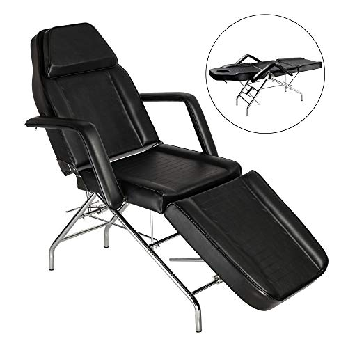 Mefeir Adjustable Massage Table Facial Esthetician Bed, Beauty Parlor Tattoo Wax Chair with Removable Arm, Medical SPA Treatment Household,PVC Leather Heavy Duty Steel Frame 72''x24''x29.5''