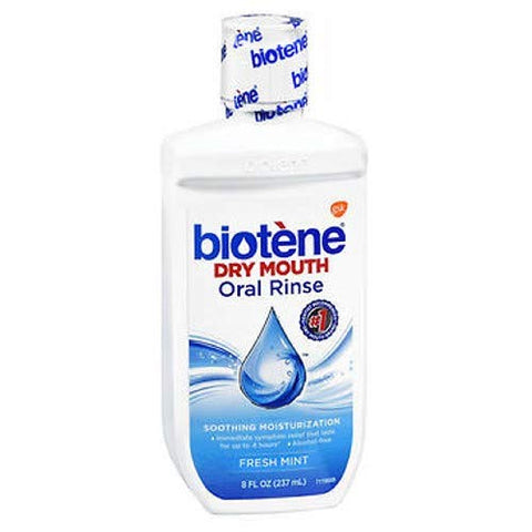 Biotene Dry Mouth Oral Rinse, Fresh Mint 8 oz (Pack of 2)