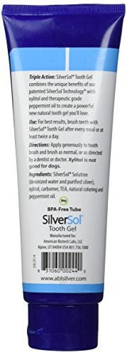 SilverBiotics Oral Care, Tooth Gel, Glacial Mint, 4oz