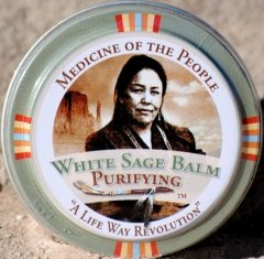3 Tins Navajo Medicine Of The People White Sage Dry Lips Lip Balm   Minor Skin Ailments, 0.75 Oz Eac
