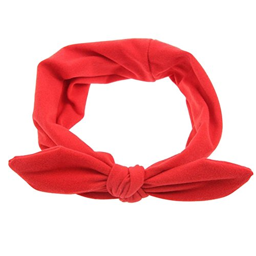 Pop Your Dream Vintage Adults Elastic Headband Bunny Ears Bow Hairband Hair Decor Accessory