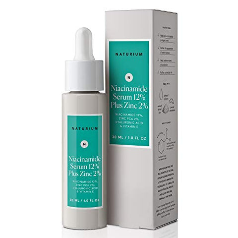 Naturium Niacinamide Serum 12% Plus Zinc 2% With Niacinamide, Hyaluronic Acid & Vitamin E