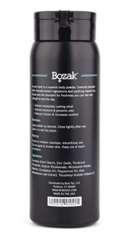 Bozak Pro Pack - Cooling Body Powder and Cream for Men - Antifungal Jock Itch Prevention and Treatment, Stops Chafing, Absorbs Sweat, Keeps Skin Dry