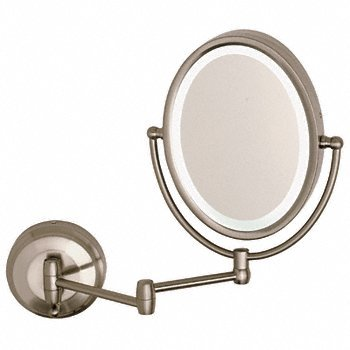 CRL Wall Mount Dual Arm Oval Mirror with LED Surround Light ZLEDW410