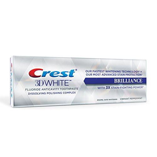 Crest 3 D White Brilliance Vibrant Peppermint Toothpaste, Pack Of 2