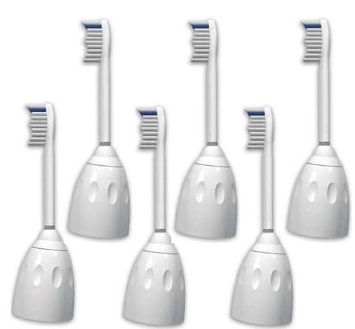 6 X Sonic Replacement Brush Heads Compatible With Philips Sonicare E Series Toothbrush Fits Elite, Es