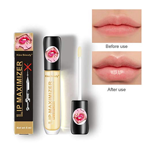 Lip Plumper Gloss Lip Plumping Balm Plumper Oil for Fuller & Hydrated Lips, Fuller Lips Without Lip Fillers, Natural Lip Enhancer That Moisturizes & Eliminates Dryness