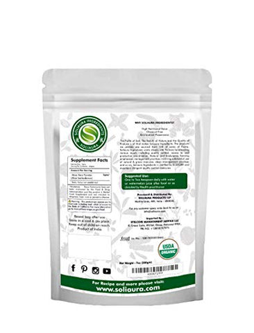 Aloe Vera Powder Aloe Barbadensis 7 Oz (200 gm) Soliaura Ingredients- Organically Grown