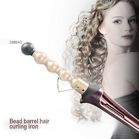 Yolandek Coco Lo Co Bubble Curling Wand/Beach Hair Curling Iron â?? Coconut Oil Infused Ceramic Ball