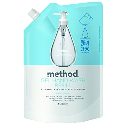 Method Gel Hand Soap Refill, Sweet Water, 34 Fl Oz (Pack Of 6)