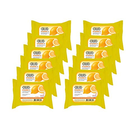 Callas Vitamin C Cleansing, Makeup Remover Wipes New (30 Count x 12 Pack)