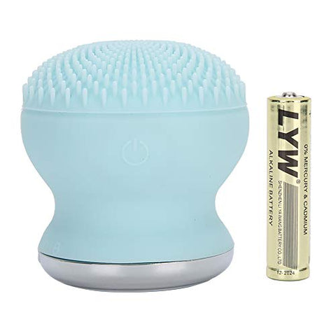 Facial Cleansing Brush, 2 in 1 Electric Silicone Facial Cleanser, Face Imported Silicone Facial Cleaner Electric deep cleansing brush for facial pores(Blau)