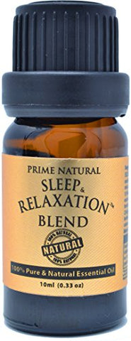 Sleep & Relaxation Essential Oil Blend 10ml - Pure Natural Undiluted Therapeutic Grade for Aromatherapy Scents & Diffuser - Good Natural Sleep Aid, Depression Stress Anxiety Relief, Sleep Well