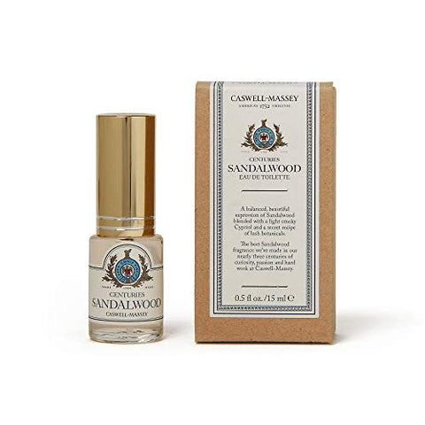 Caswell Massey Centuries Sandalwood Eau De Toilette Travel Spray â??Unisex Botanical Fragrance, Made