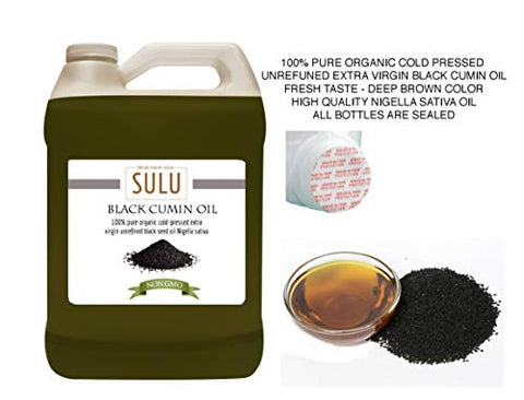 100% Pure Organic Extra Virgin Unrefined Black Cumin Oil 1 Gallon (128 FL.OZ)