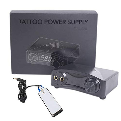 Tattoo Power Supply-BMX Black Simply Tattoo Power Supply Set Use for Tattoo Design with Tattoo Gun, Fits for All Tattoo Machine Supplies