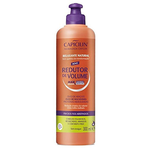 Linha Redutor de Volume Capicilin - Relaxante Natural 300 Ml - (Capicilin Volume Reducer Collection - Natural Relaxer 10.14 Fl Oz.)