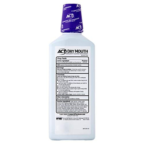 Act Total Care Dry Mouth, Mint, 18 oz., - 3 Bottles