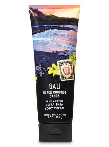 Bath and Body Works Bali Black Coconut Sands Duo Gift Set Ultra Shea Body Cream and Fine Fragrance Mist Full Size