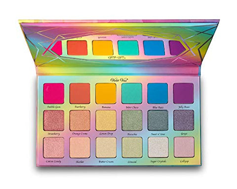 Violet Voss Sugar Crystals Pressed Pigment Palette! Eyeshadow Palette Infused With Jojoba Oil! Highly-Pigment, Matte-Finished And Gorgeous Duo-Chromes! 18 Fun Bright Colors Shades!