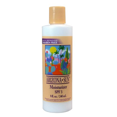Arizona Sun Moisturizer Spf 3 â?? 8 Oz â??Natural Aloe Vera And Plants And Cacti From The Desert Pro
