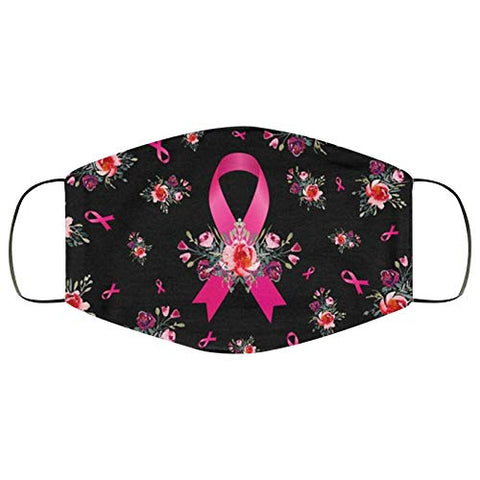 Breast Cancer Awareness Faith Hope Love Pink Ribbon Face Bandanas, Owill Reusable Washable Bandanas Breast Cancer Gifts (Combo d/2PC)