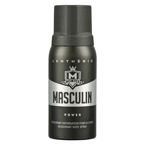 #MG LENTHERIC Masculin Deodorant Spray Power 150ml -The Masculin Man is young, trendy and has friends of all races and genders