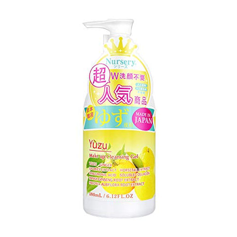 Japanese Nursery Yuzu Make Up Cleansing Gel With Fruits Extract, 180ml