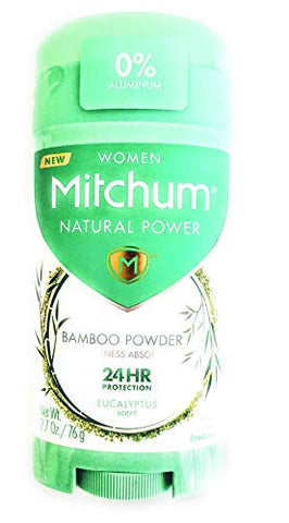 Mitchum Women Natural Powder Bamboo Powder Solid Deodorant Eucalyptus Scent 2.7oz