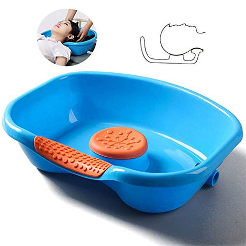 MTBASIIN Medical Bed Hair Shampoo Basin Bedside Shampoo Tray Hair Washing Bowl for The Elderly Disabled Bedridden Patients and Handicapped