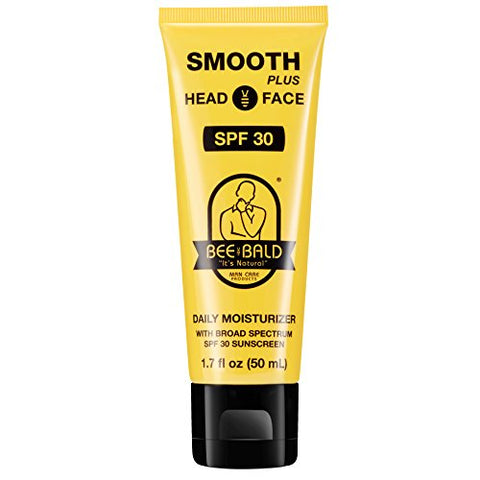 Bee Bald Smooth Plus Daily Moisturizer With Spf 30 Sunscreen, 1.7 Oz