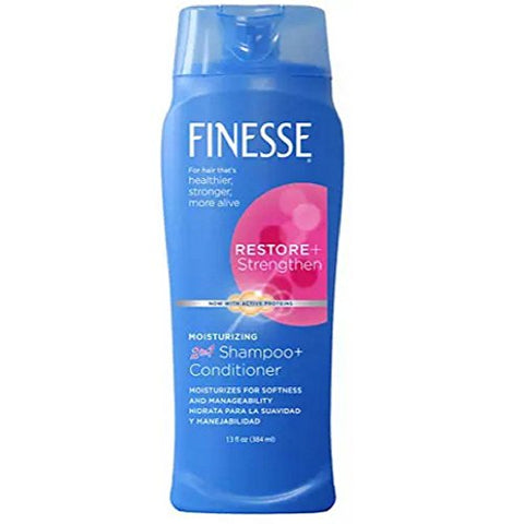 Finesse 2 in 1 Moisturizing Shampoo and Conditioner 13 oz (Pack of 8)