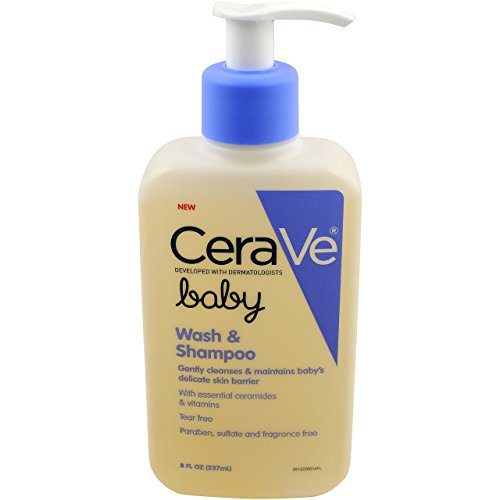 Cera Ve Baby Wash & Shampoo | 8 Oz | Fragrance, Paraben, & Sulfate Free Shampoo For Tear Free Baby Ba
