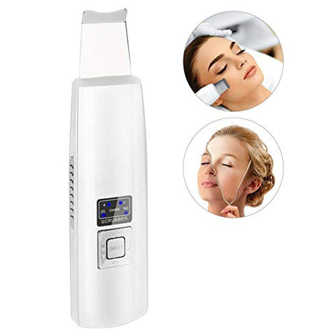 Facial Ion Skin Peeling Scrubber, Nano Sound Vibration Exfoliate Pore Blackhead Removal Tool Face Deep Cleansing Cleaner Machine