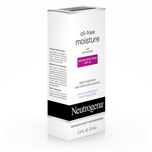 Neutrogena Oil Free Daily Long Lasting Facial Moisturizer & Neck Cream With Spf 35 Sunscreen & Glyce