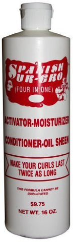 Spanish Sur Gro 4-in-1 Activator/Moisturizer/Conditioner/Oil Sheen 16 oz.