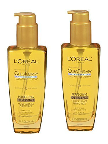 L'Oreal Paris Hair Expertise OleoTherapy Perfecting Oil-Essence, 3.4 fl oz - 2pc