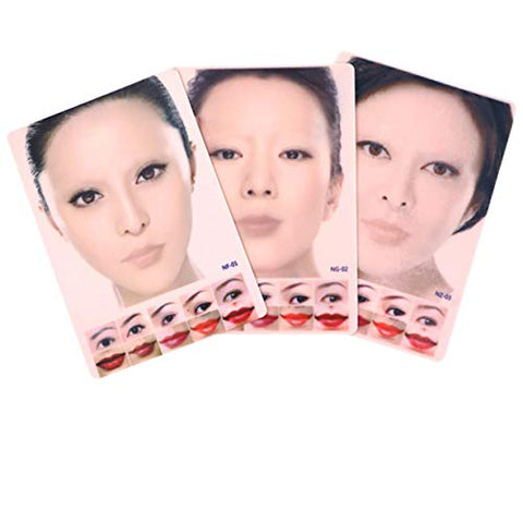 ZHONGJIUYUAN 3PCS Practice Tattoo Fake Skin Microblading for Eyebrows Training for Tattoo Supplies for Beginners and Experienced Tattoo Artists