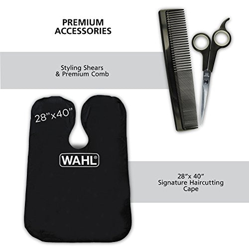 Wahl Clipper Elite Pro High Performance Home Haircut & Grooming Kit For Men   Electric Hair Clipper