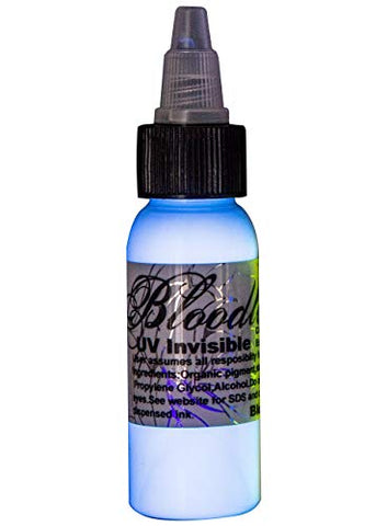 Bloodline UV Blacklight Colors Tattoo Ink - UV Invisible - 1/2oz