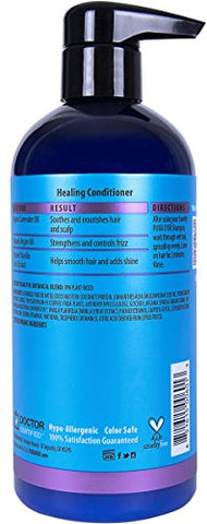 Pura D'or Healing Argan Oil Conditioner For Dry, Damaged, Frizzy Hair, W/Aloe Vera, Lavender, Vanill