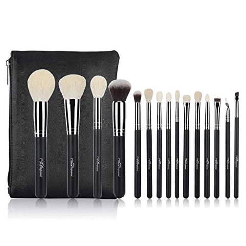 WEIDA Advanced Professional Makeup Brushes Basic Mixing Tool with Travel Storage Bag Eyebrow Pencil Lip Blush Foundation Brush