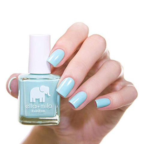 ella+mila Nail Polish, BonBon Collection - My Baby Blue