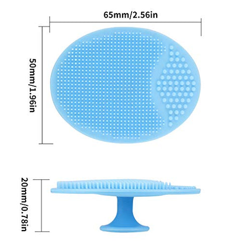 Face Scrubber,Soft Silicone Facial Cleansing Brush Pad Exfoliator Scrub Scrubby for Massage Pore Blackhead Removing Exfoliating-Unique Cool Fun Christmas Gift Present for Girl Sister Best Friend Women