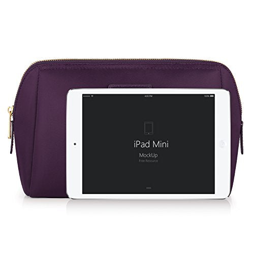 CHICECO Handy Travel Toiletry Bag for Women Skincare Pouch Makeup Bag - Dark Purple