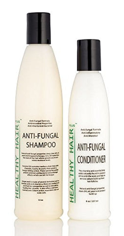 Antifungal Shampoo (12oz) & Conditioner (8oz) Combo that Fights Fungus and Bacteria on the Scalp and