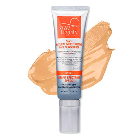Suntegrity Tinted Mineral Sunscreen Lotion For Face (Spf 30 2 Oz) | Natural Bb Cream Moisturizer Wit