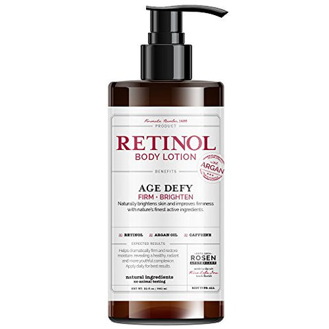 Rosen Apothecary Anti-Aging Retinol Body Lotion - Age Defy - Body Firms & brightens 32oz / 960ml
