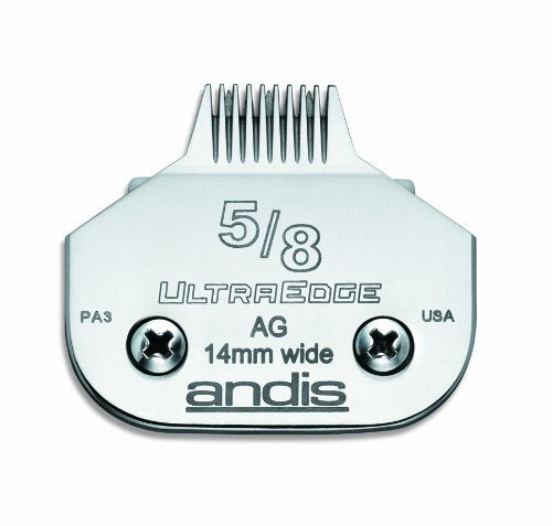 Andis Carbon Infused Steel Ultra Edge Narrow Cut Dog Clipper Blade, Size 5/8, 1/32 Inch Cut Length (6
