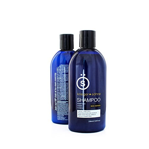 Shampoo For Mens Hair   Contains Invigorating Tea Tree Oil   Krieger + Sã¶Hne Man Series   For All H